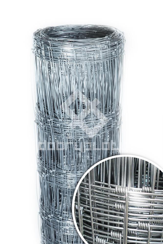Lesnické pletivo uzlové Zn výška 100 cm, síla drátů 1,60/2,00mm, 11 vodorovných drátů