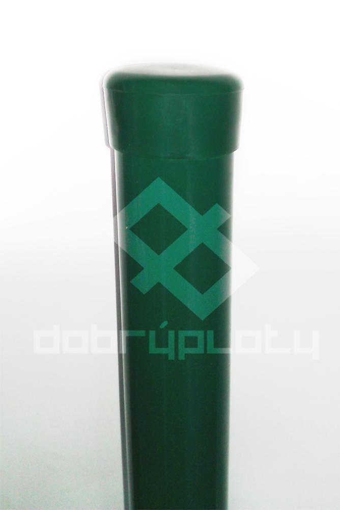 Sloupek na plot výška 280 cm, průměr 48 mm barva zelená