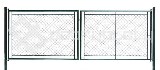 Brána zahradní dvoukřídlá výška 200 cm, šířka 360 cm zelená na OKO