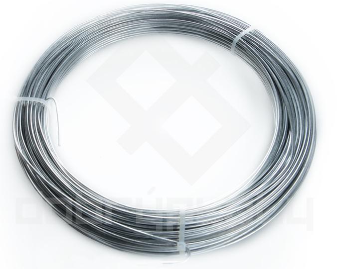 Napínací drát pozinkovaný na plot délka 78bm, síla drátu 3,1 mm