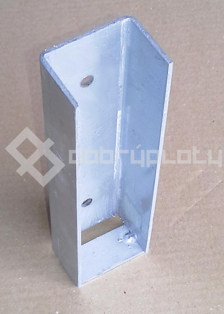 Koncový držák Zn, výška 20 cm, šířka 5 cm